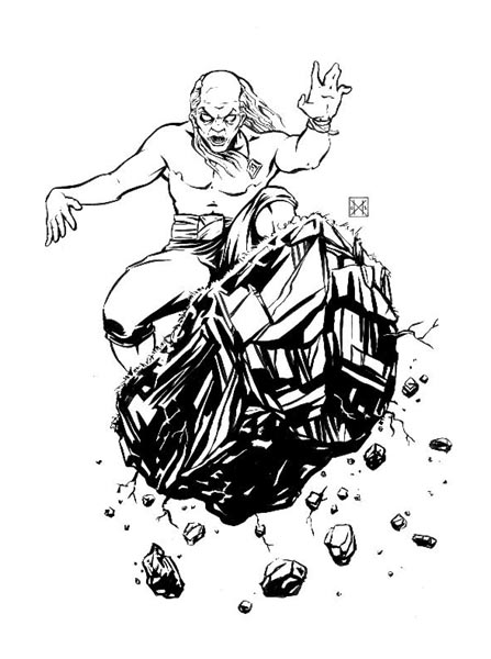 DW Gross Hardline Ink Illustration