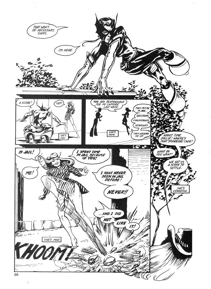 Murcielaga She-Bat comic appearance Kung-Fu Warriors #10 page 3