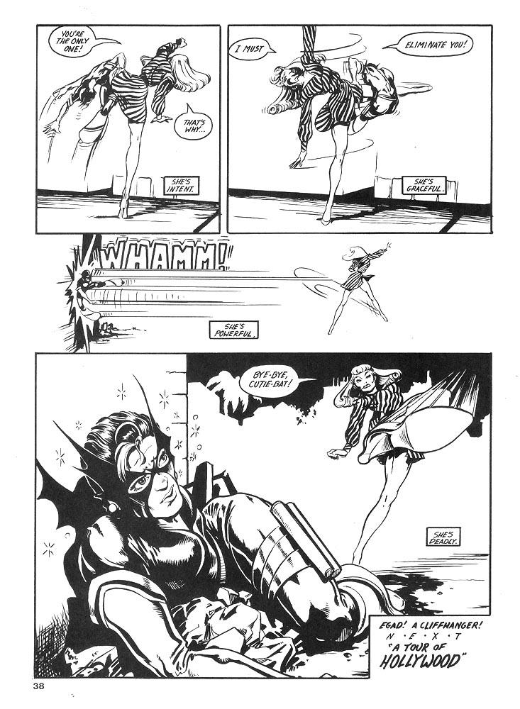 Murcielaga She-Bat comic appearance Kung-Fu Warriors #10 page 5