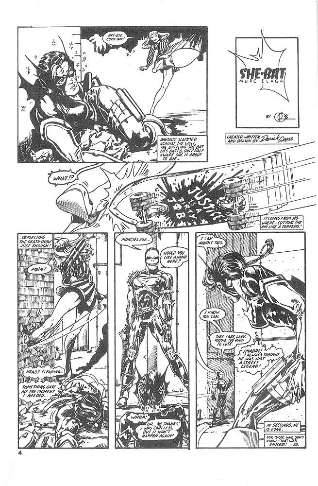 Murcielaga She-Bat comic appearance Kung-Fu Warriors #12 page 1