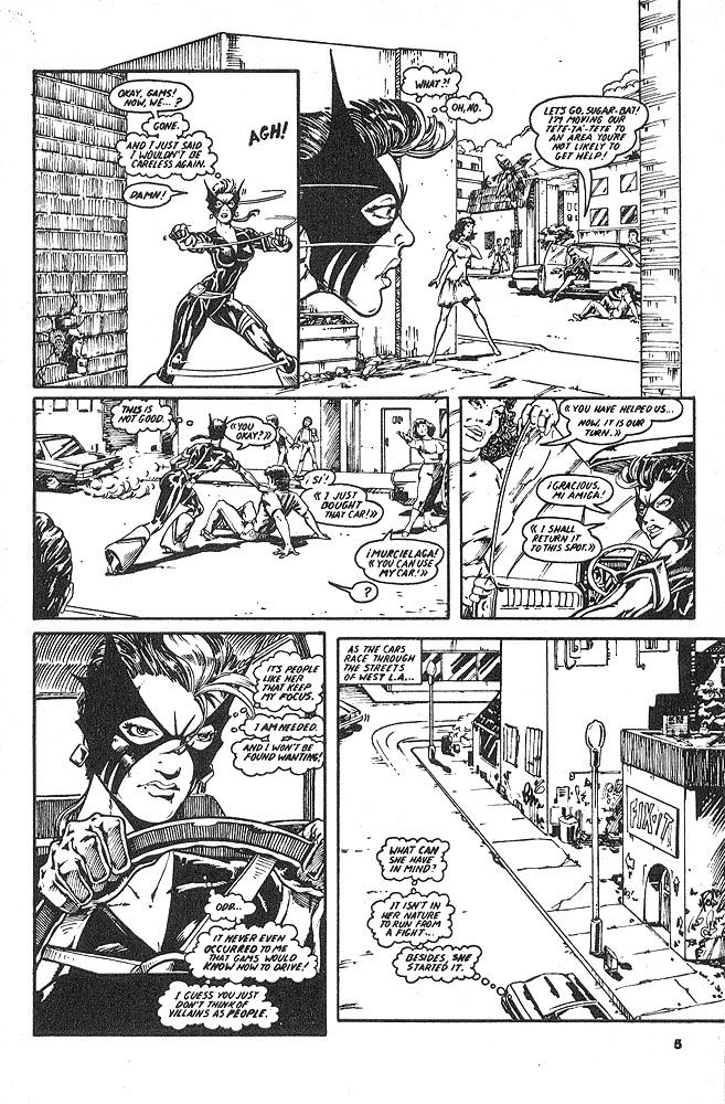 Murcielaga She-Bat comic appearance Kung-Fu Warriors #12 page 2