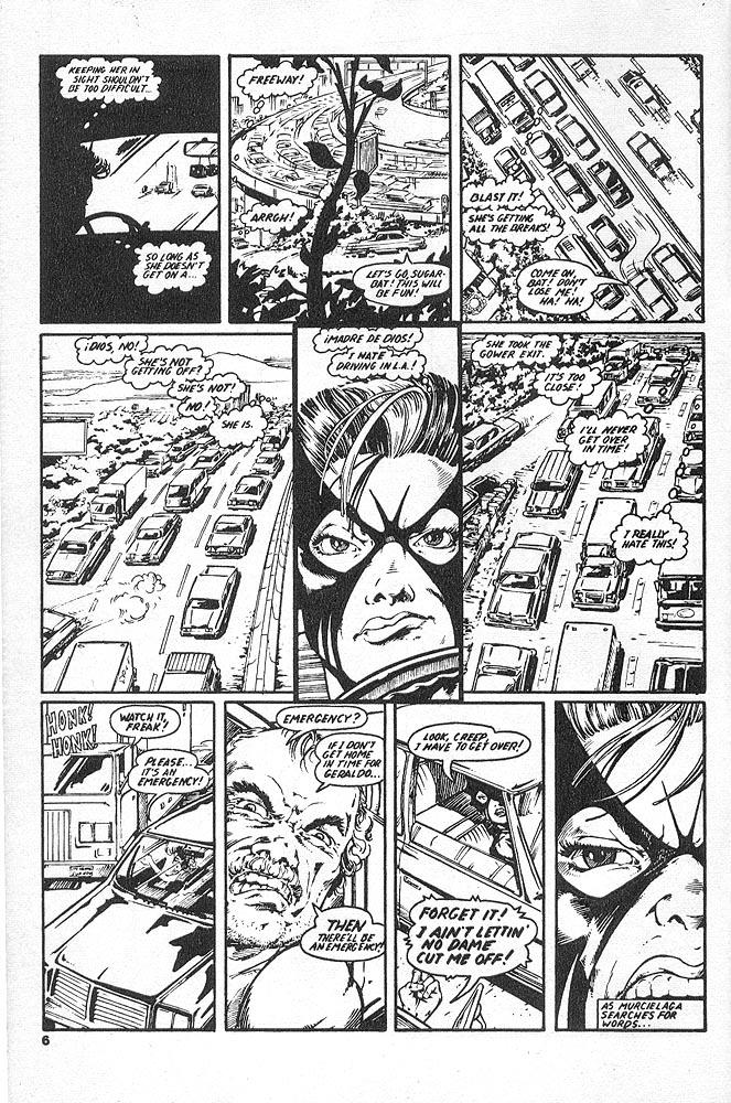 Murcielaga She-Bat comic appearance Kung-Fu Warriors #12 page 3