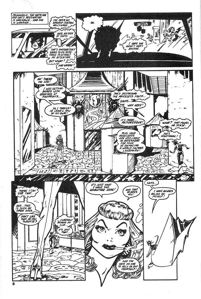 Murcielaga She-Bat comic appearance Kung-Fu Warriors #12 page 5