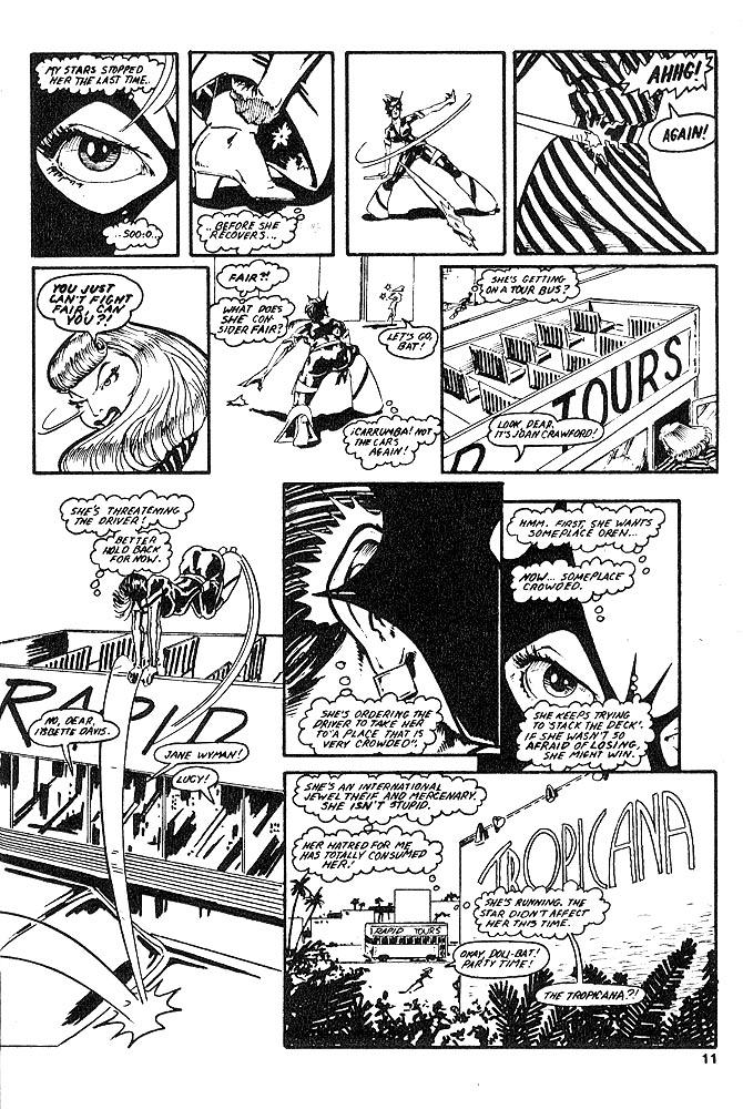 Murcielaga She-Bat comic appearance Kung-Fu Warriors #12 page 8