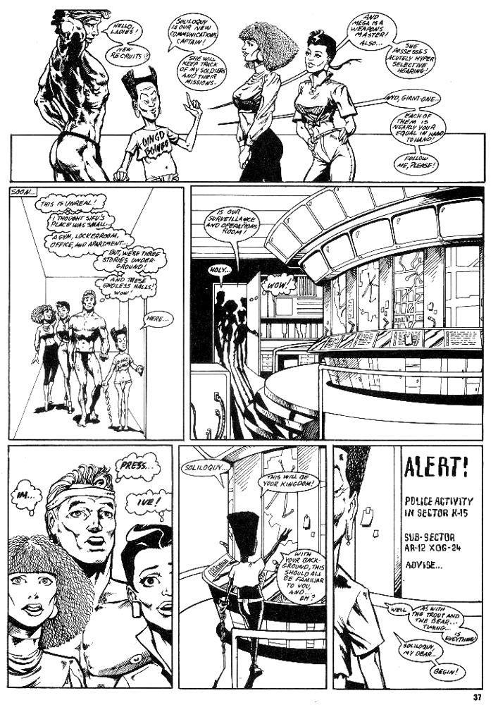 Murcielaga She-Bat first appearance Robowarriors #3 page 3
