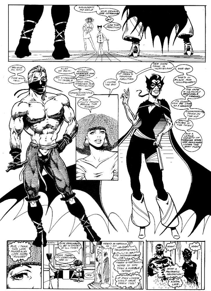 Murcielaga She-Bat first appearance Robowarriors #3 page 7
