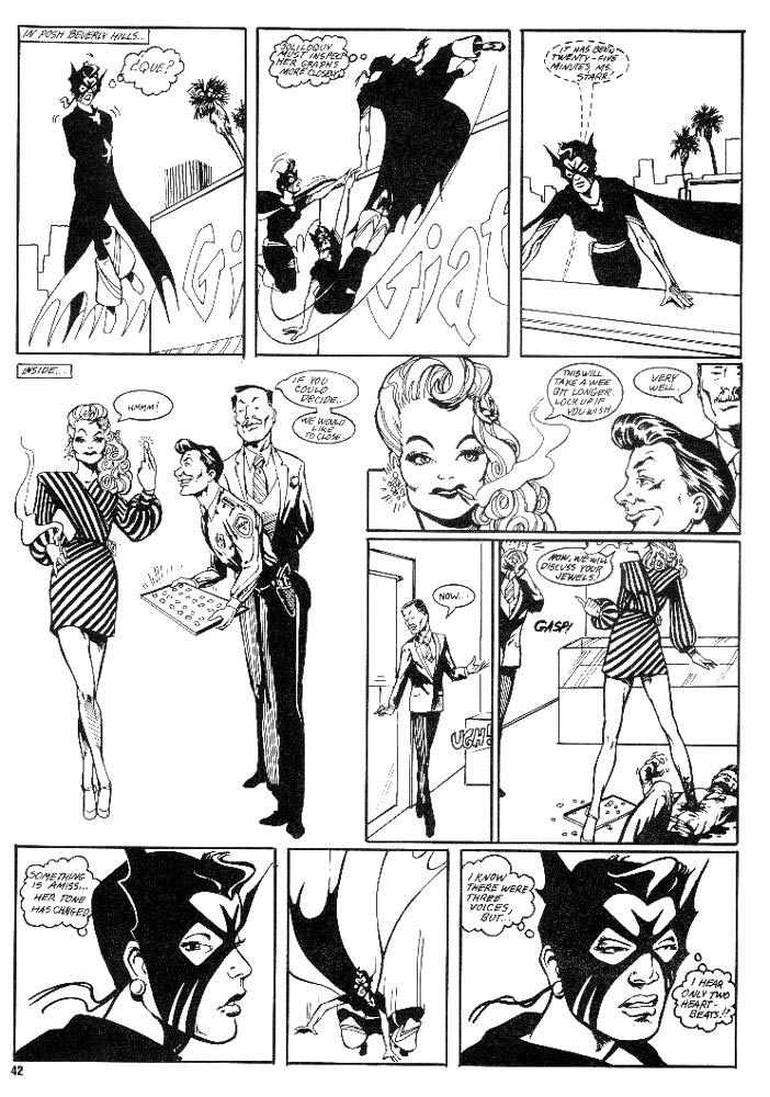 Murcielaga She-Bat first appearance Robowarriors #3 page 8