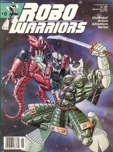 Murcielaga, She-Bat first appearance, Robowarriors #3 cover