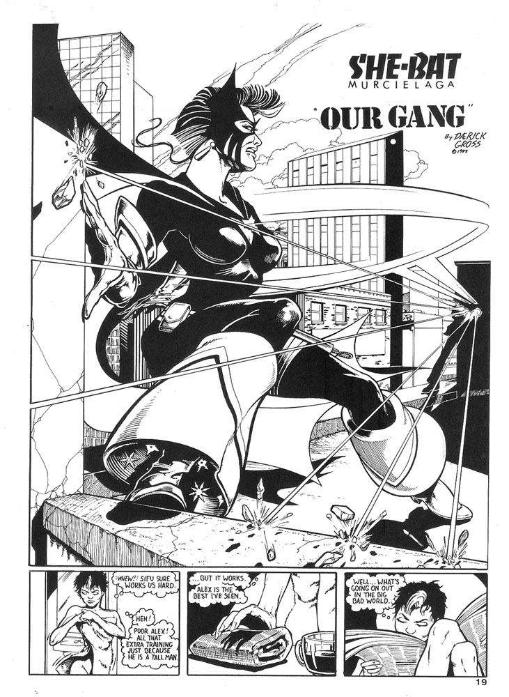 Murcielaga She-Bat comic appearance Robowarriors #6 page 1