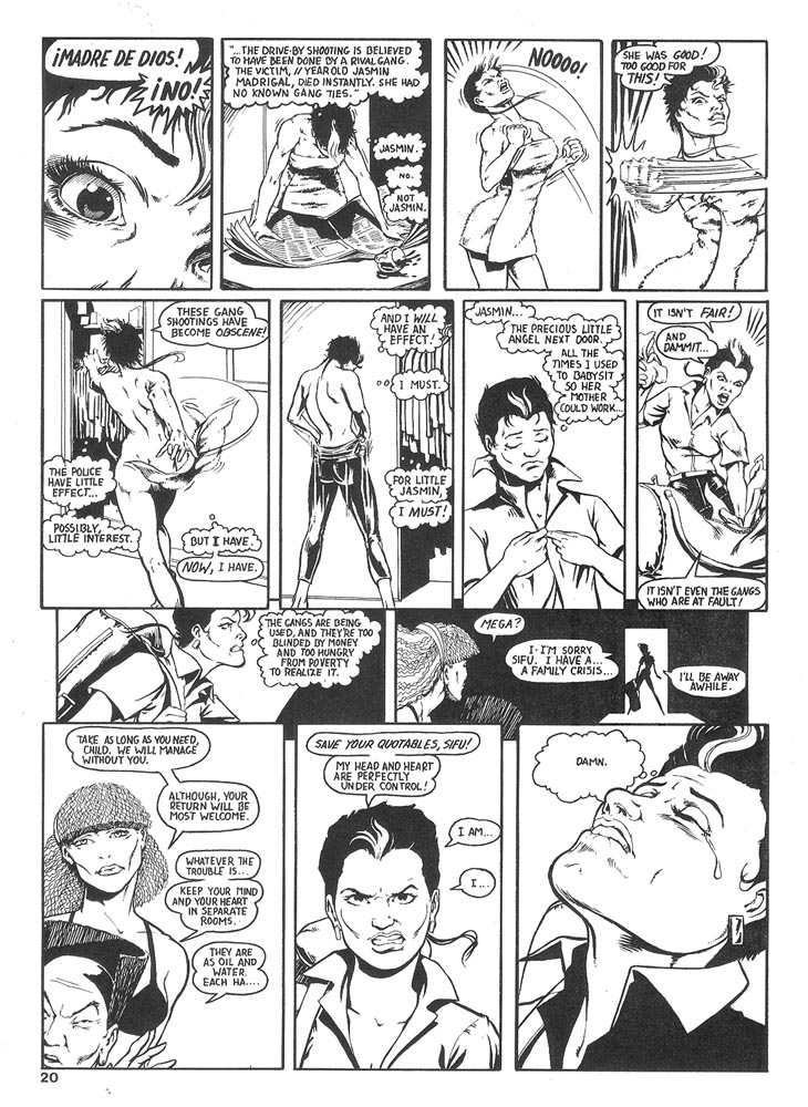 Murcielaga She-Bat comic appearance Robowarriors #6 page 2