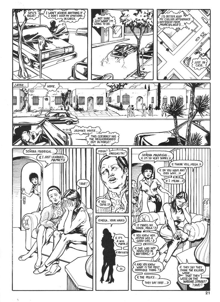 Murcielaga She-Bat comic appearance Robowarriors #6 page 3