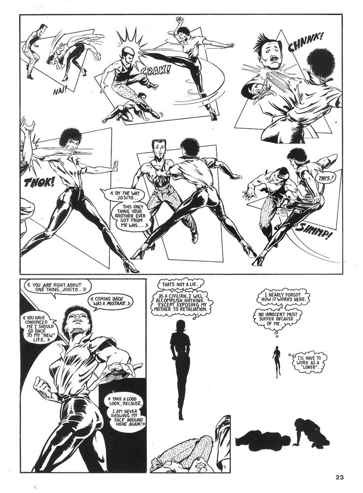 Murcielaga She-Bat comic appearance Robowarriors #6 page 5