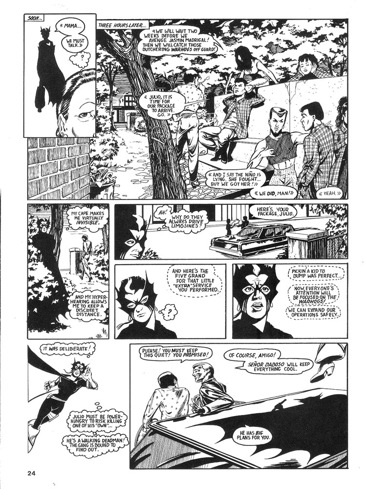Murcielaga She-Bat comic appearance Robowarriors #6 page 6