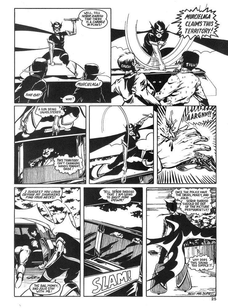 Murcielaga She-Bat comic appearance Robowarriors #6 page 7