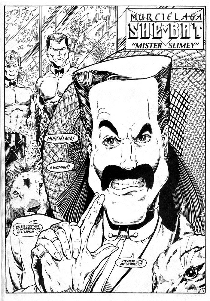 Murcielaga She-Bat comic appearance Robowarriors #7 page 1