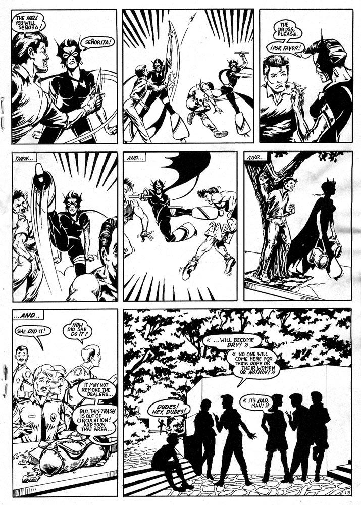 Murcielaga She-Bat comic appearance Robowarriors #7 page 6