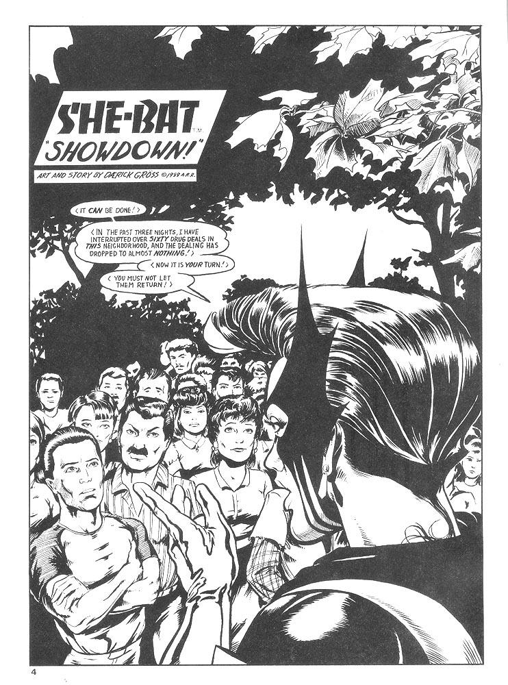 Murcielaga She-Bat comic appearance Robowarriors #8 page 1