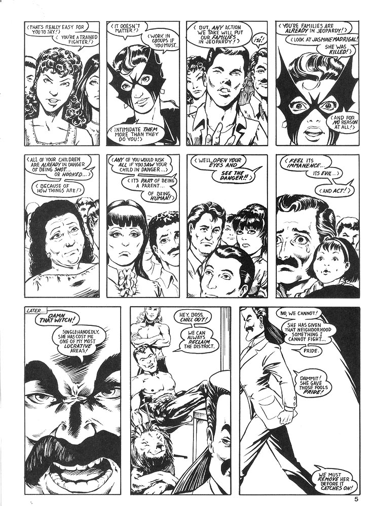 Murcielaga She-Bat comic appearance Robowarriors #8 page 2