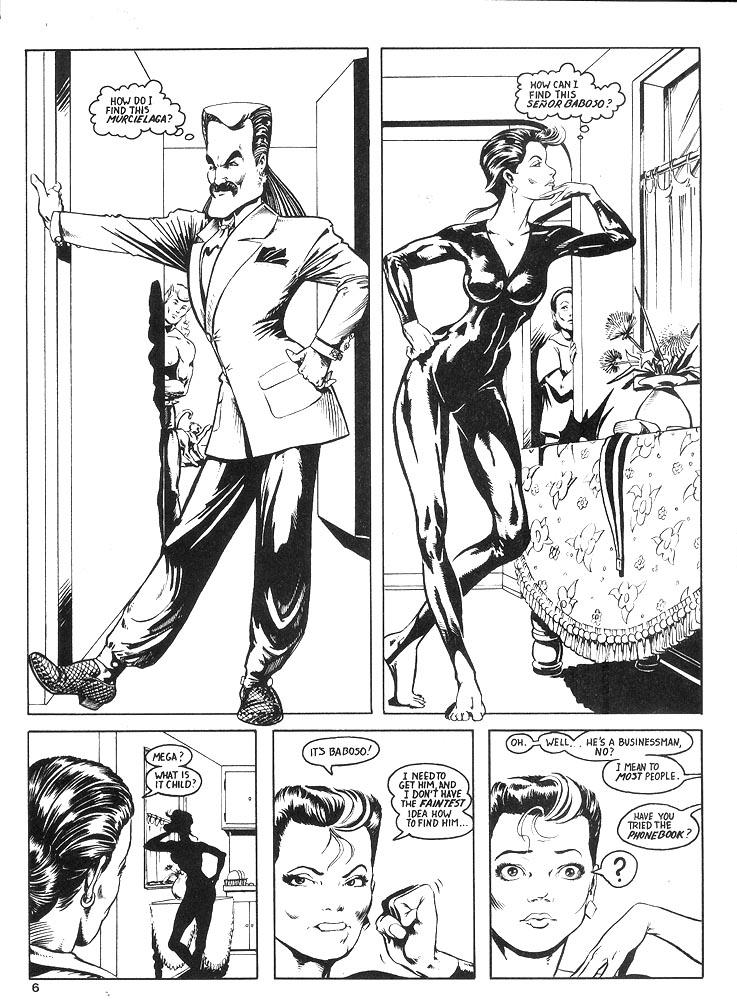 Murcielaga She-Bat comic appearance Robowarriors #8 page 3