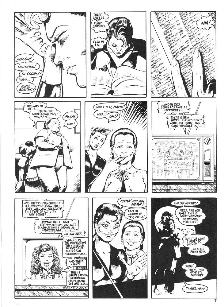 Murcielaga She-Bat comic appearance Robowarriors #8 page 4