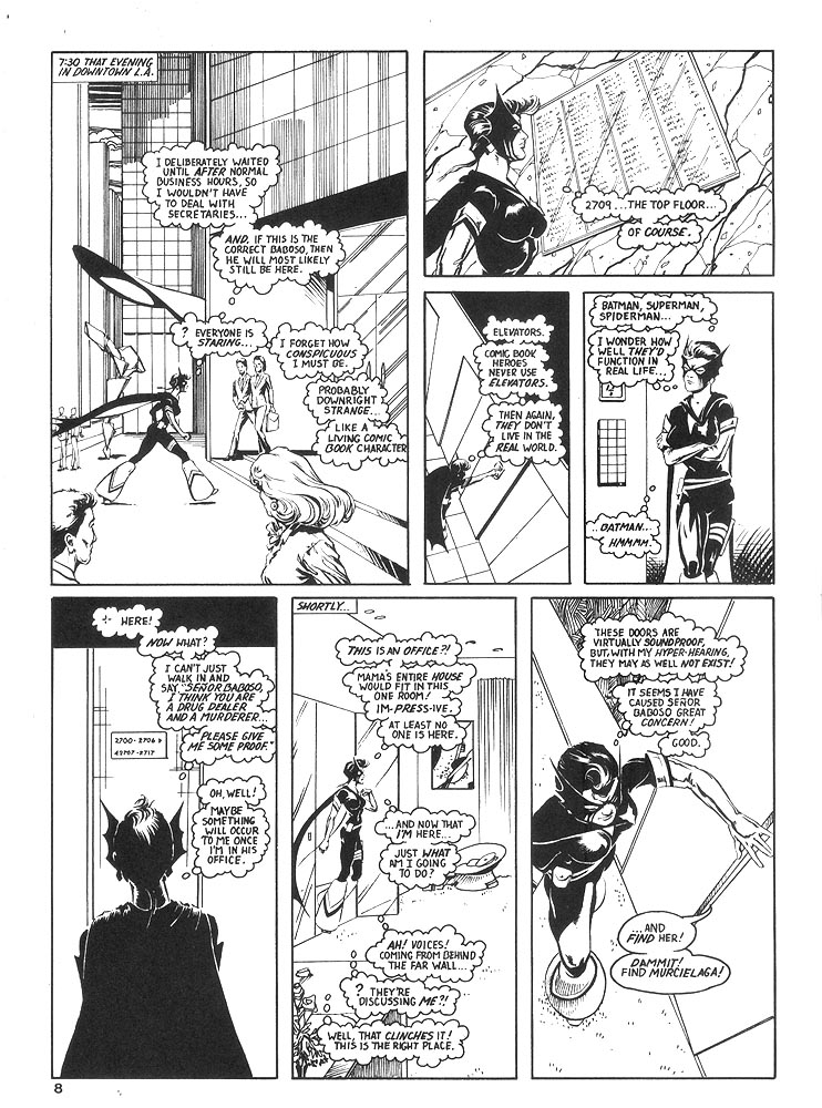 Murcielaga She-Bat comic appearance Robowarriors #8 page 5