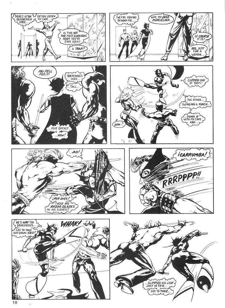 Murcielaga She-Bat comic appearance Robowarriors #8 page 7