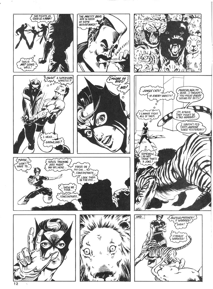 Murcielaga She-Bat comic appearance Robowarriors #8 page 9