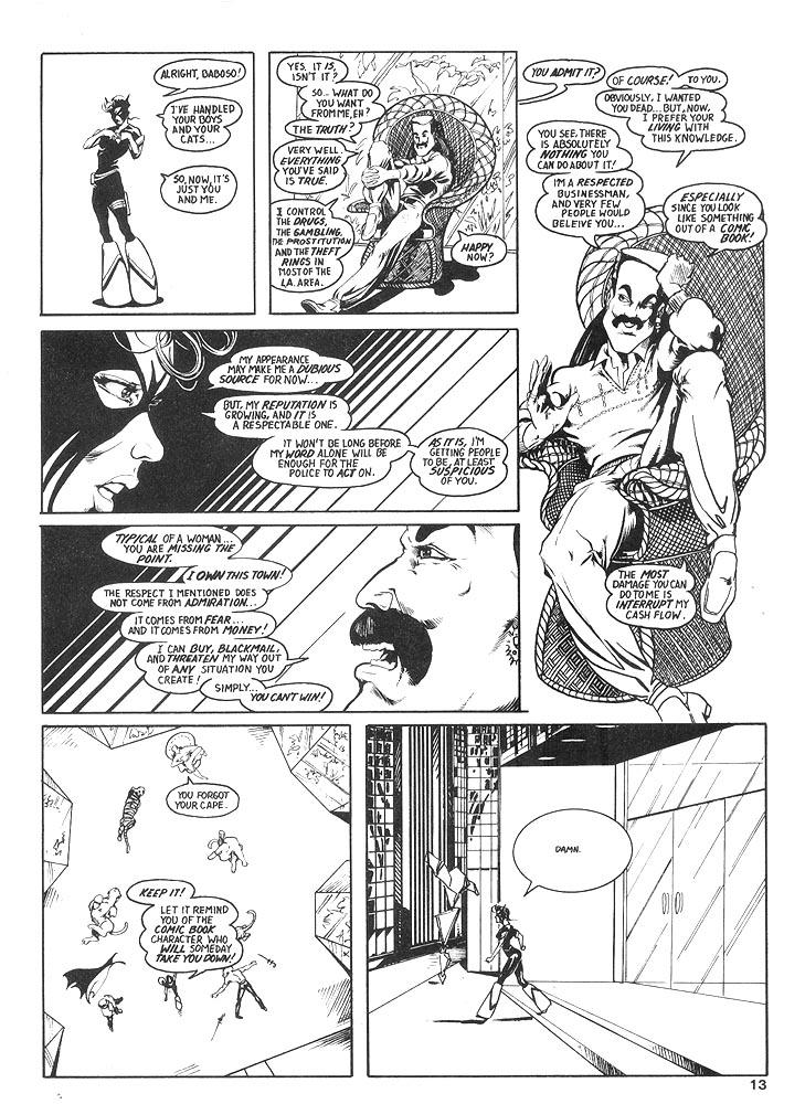 Murcielaga She-Bat comic appearance Robowarriors #8 page 10