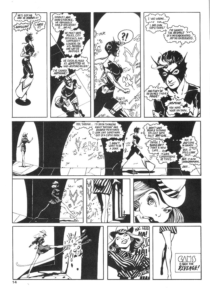 Murcielaga She-Bat comic appearance Robowarriors #8 page 11